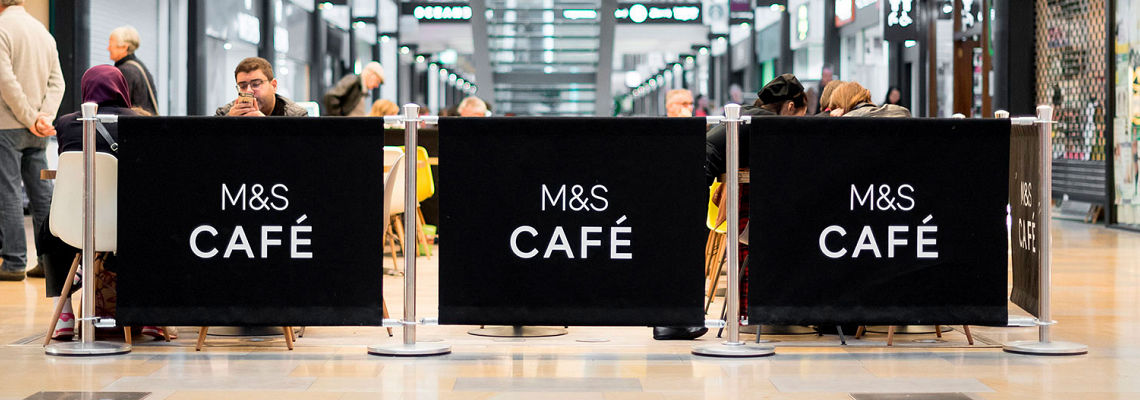 Cafe Barriers with Black Canvas
