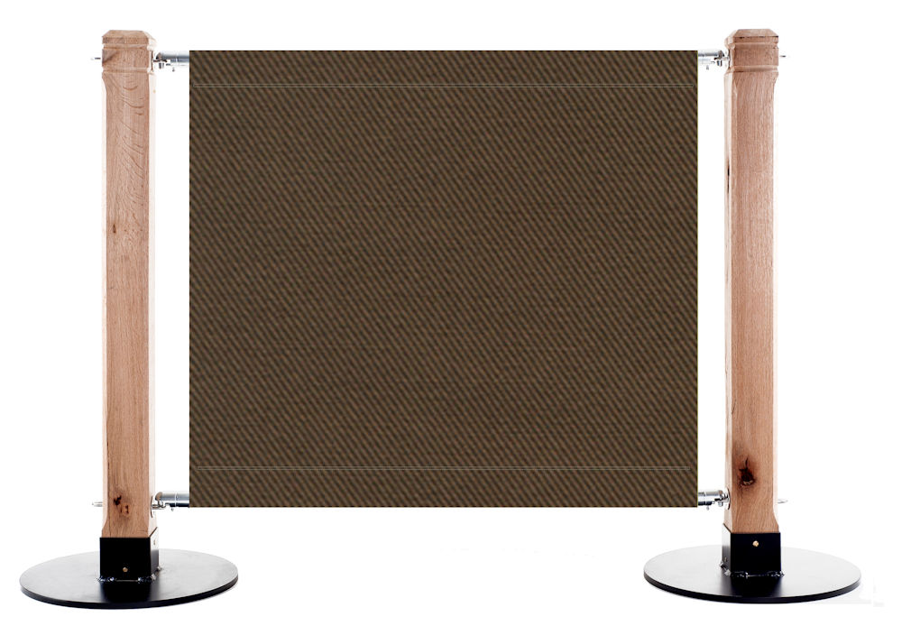 Canvas Cafe Barrier in FR06 - Brown Mid