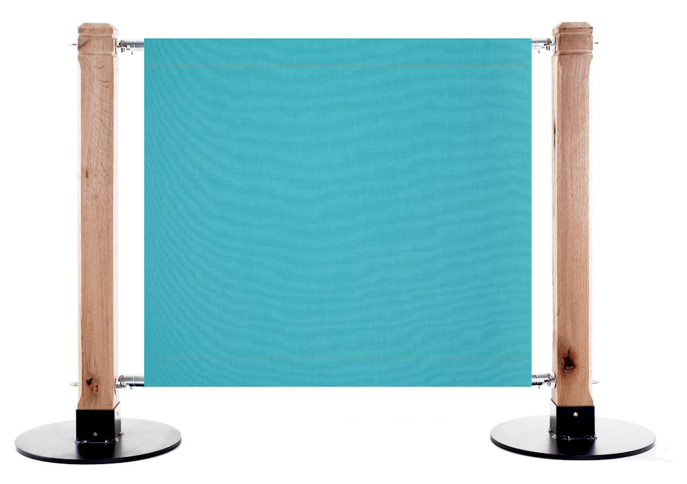 Canvas Cafe Barrier in 6688 Turquoise