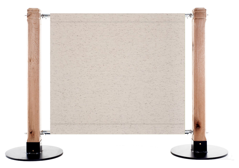 Canvas Cafe Barrier in 7972 Perle Flamme
