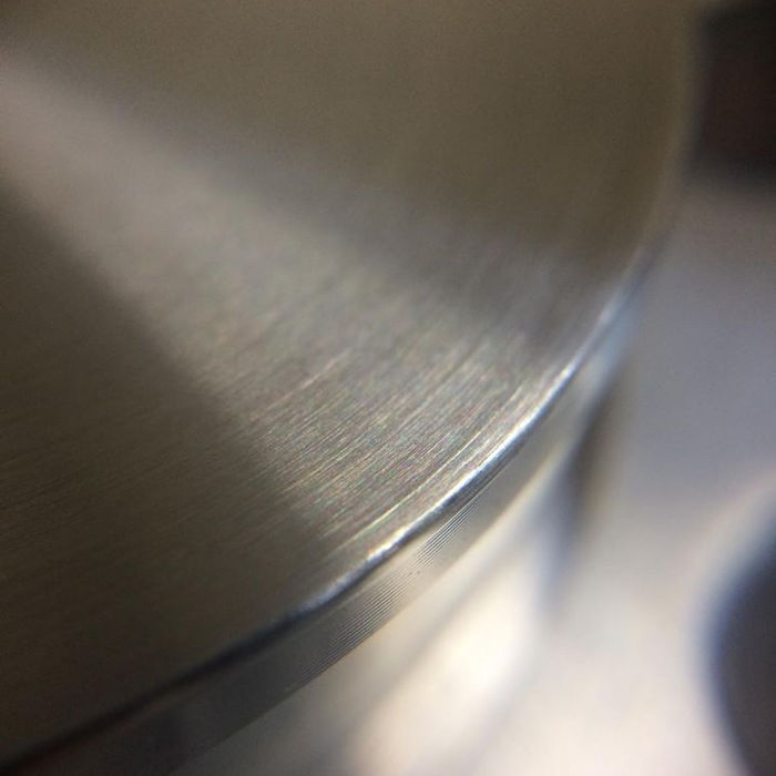 The top and loop of the machined standard cafe post.