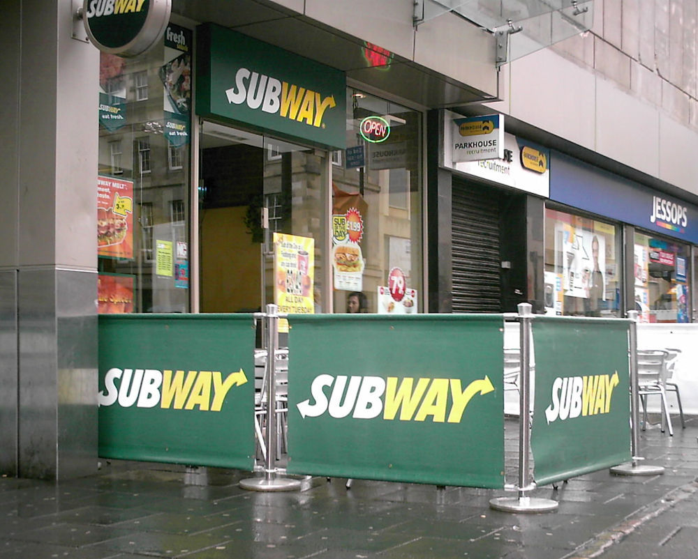 Subway Cafe Barriers