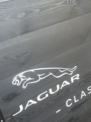 Stencilled Jaguar Logo