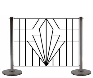 The wrought iron cafe barriers