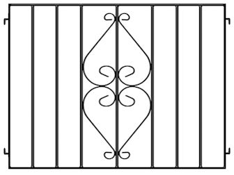 Wrought Iron Cafe Barriers