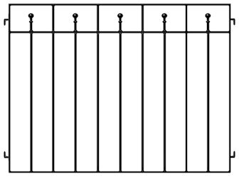 Wrought Iron Alfreso Cafe Barrier
